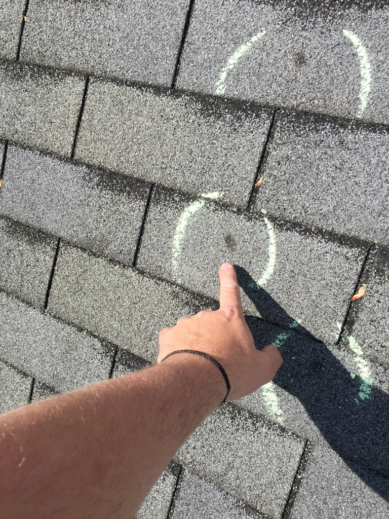Hail damage might not look like a big deal but it not only damages shingles. It can damage the underlying materials as well.